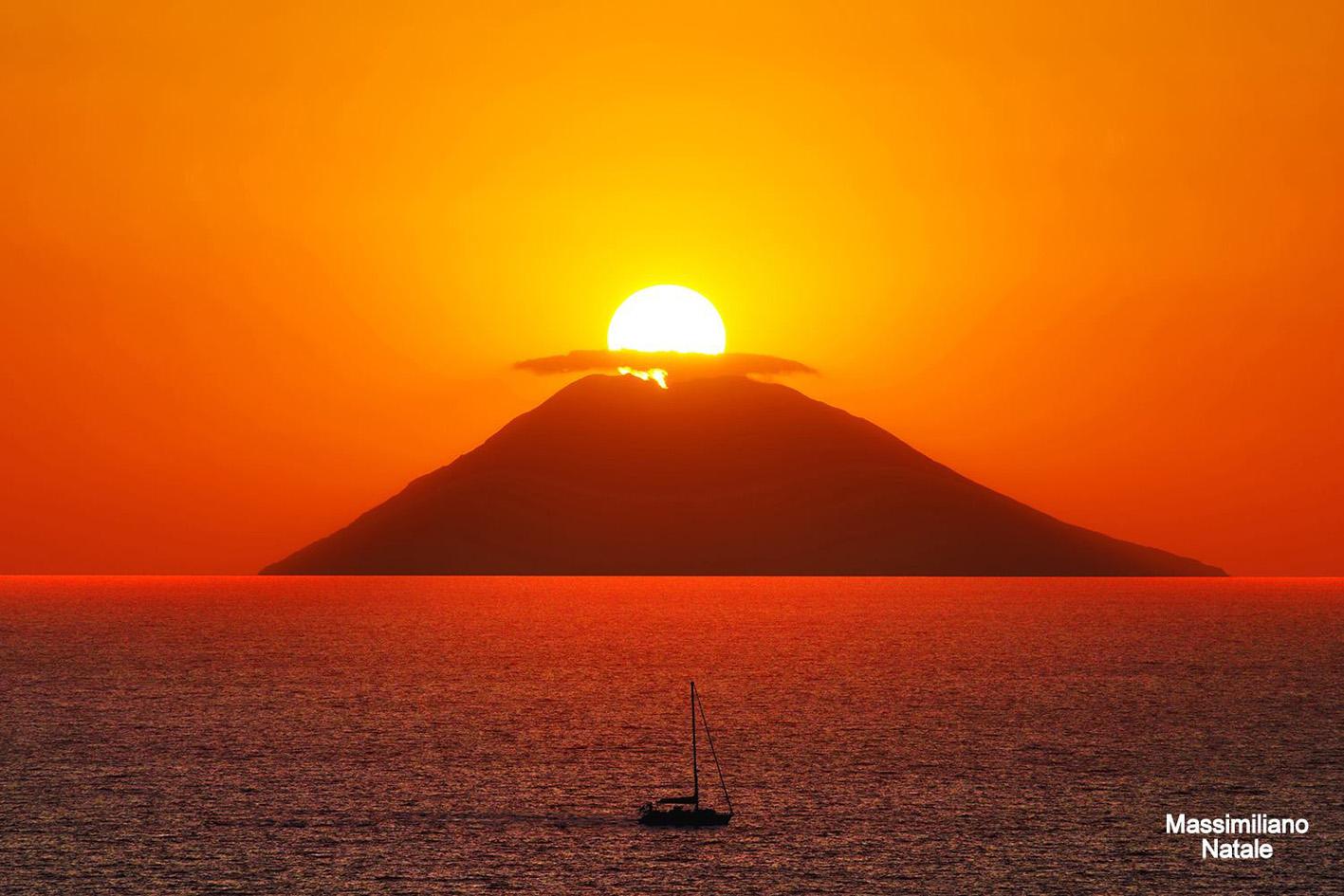 tramonto sullo Stromboli