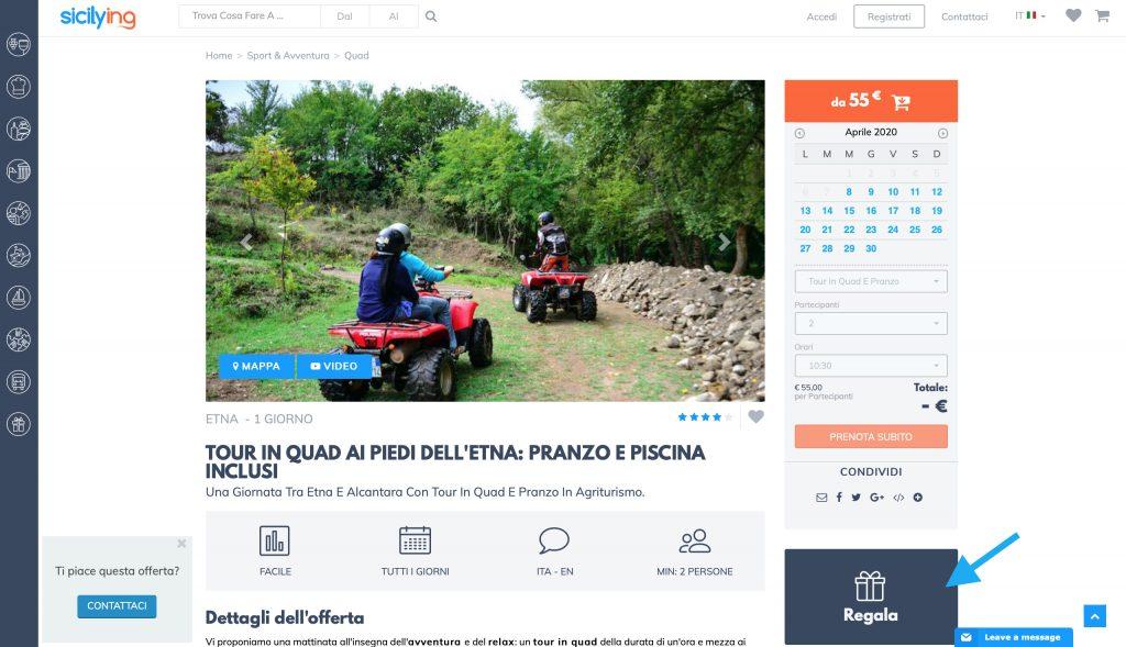Idee regalo Sicilia: Clicca su regala e procedi con l'acquisto!