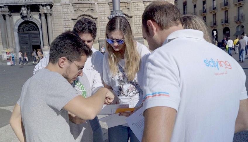 team building sicilia  - street food catania