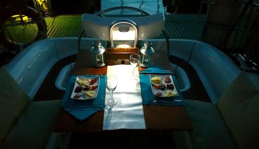 Cena in barca Catania  - Cena romantica Catania